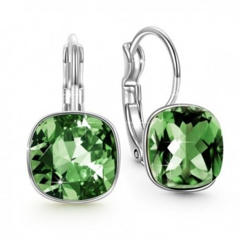 "QIANSE ""Forest Elf"" Hypoallergenic Dangle Earrings Made with Swarovski Crystals for Pierced Ears - CB188ROALR5"