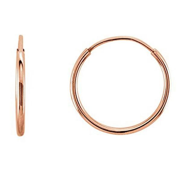 14K Gold Round Endless Hoop Earrings- 10mm - CF185RWYT5S
