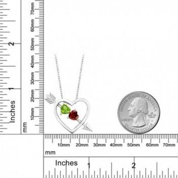 Peridot Garnet Sterling Silver Pendant
