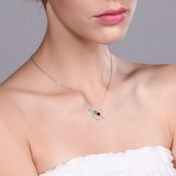 Peridot Garnet Sterling Silver Pendant in Women's Pendants