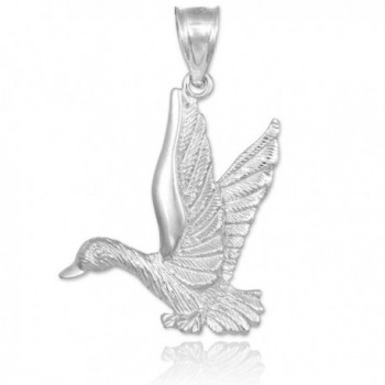 925 Sterling Silver Flying Duck Pendant - CC11GY51URJ