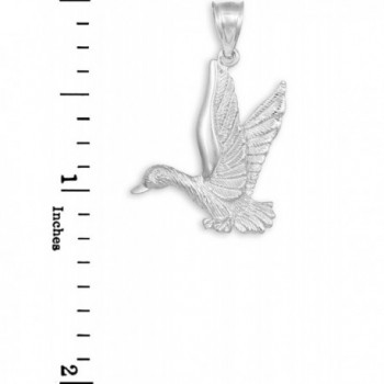 Sterling Silver Flying Duck Pendant in Women's Pendants