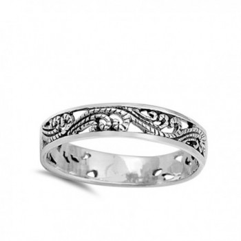 Filigree Fashion Stackable Sterling Silver
