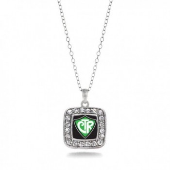 Classic Silver Plated Crystal Necklace in Women's Chain Necklaces