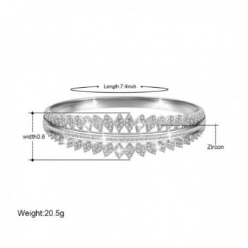 Plated Zirconia Bracelet Birthday Christmas