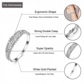 Plated Zirconia Bracelet Birthday Christmas in Women's Bangle Bracelets