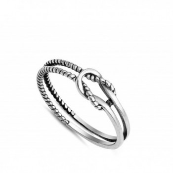 Oxidized Infinity Love Sterling Silver