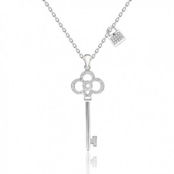 Kigmay Jewelry Key Pendant Necklace for Women - Vintage Key - CR188DGS2H8