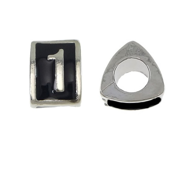 Triangle Number Charms 0-9 Charm Bead for European Snake Chain Charm Bracelet Choose Your Number From Menu - CB120S9ODQL