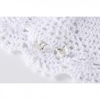 Mariafashion Sterling Hypoallergenic Butterfly Earrings