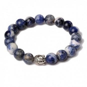 JDZ Amulets 10mm Beaded Stretch Stone Bracelet Buddha Mala Energy Bracelet Reiki Healing Crystal Bracelet - CH1263X1N7N