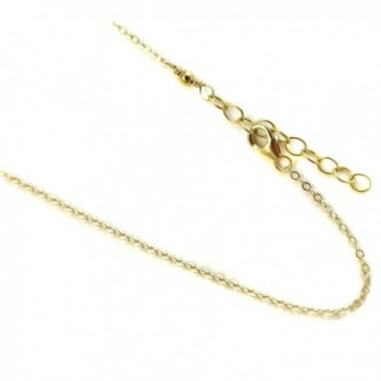 14k Gold Filled(1/20 of 14k) 1.2mm Anklet. Flat Rolo Link Chain. 9-10-11-12 Inches with 1 - CI11X9IZQ65