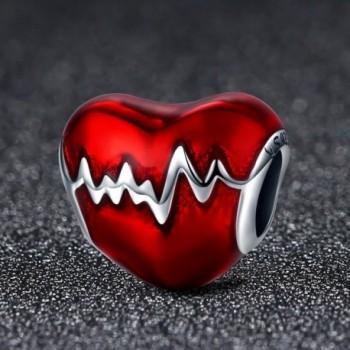 Sterling Silver Heartbeat Enamel enamel in Women's Charms & Charm Bracelets
