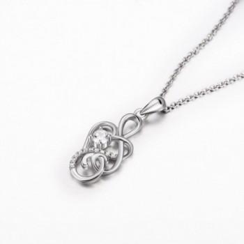 Sterling Eternal Infinity Pendant Necklace in Women's Pendants