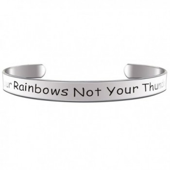 Paris Selection Inspirational Bracelet Count Your Rainbows Not Your Thunderstorms - CX12O9SY5OO