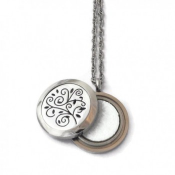 Stainless Steel Aromatherapy Locket-Tree Twist Off Style - CO12CC9SPQT