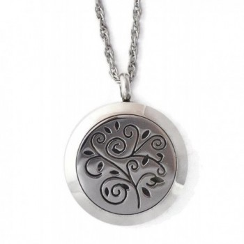 Stainless Steel Aromatherapy Locket Tree Twist