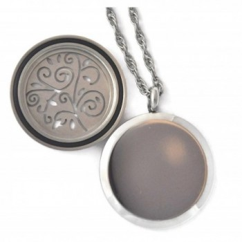 Stainless Steel Aromatherapy Locket Tree Twist in Women's Lockets