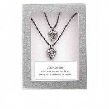 Cathedral Art 'Sisters' Heart Locket Pendants - 2 Necklaces - CZ11KGAT1I7