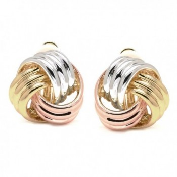Sparkly Bride Earrings Tricolor Three tone in Women's Clip-Ons Earrings