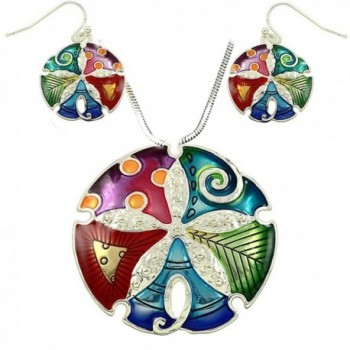 DianaL Boutique Colorful Enameled Necklace - CP121FZCX3H