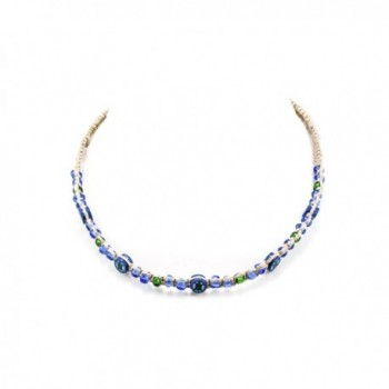 Hemp Choker Necklace With Fimo Disc Glass Bead Turtle - CM182WQ9SX3