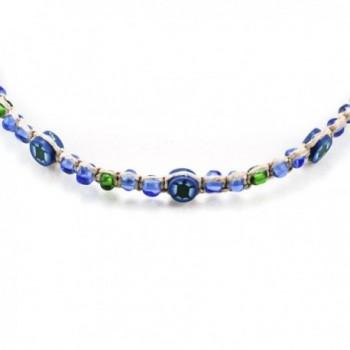 Hemp Choker Necklace Glass Turtle