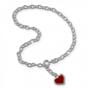 SilberDream anklet red heart 925 Sterling Silver 9.8 inch SDF006 - CB116VAERGH