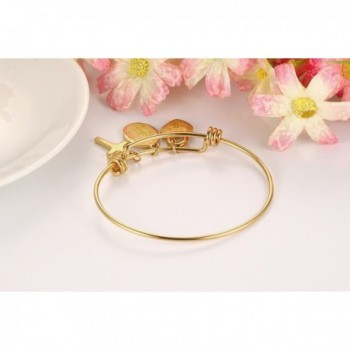Stainless Virgin Bangle Bracelet Plated in Women's Bangle Bracelets