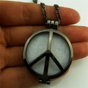 Aromatherapy Perfume Diffuser Pendant Necklace in Women's Lockets