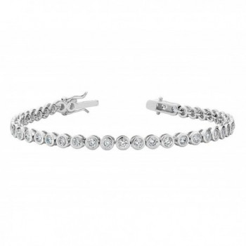 Created White Topaz Tennis Bracelet 4.0 Carat (ctw) in Sterling Silver - CW12C45OFMT