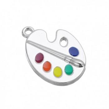 Trendy Palette Pendant Necklace Jewelry in Women's Pendants