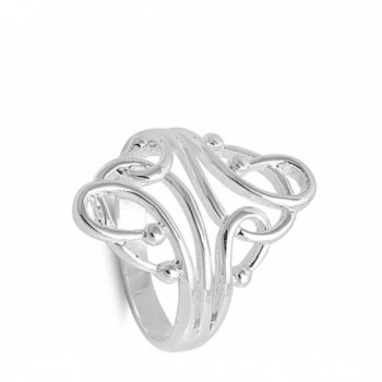 Fashion Abstract Sterling Silver RNG14974 11 in Women's Band Rings