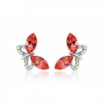 NICOSHINE Butterfly crystal allergy free earrings - Orange - CY17XMO3Y02