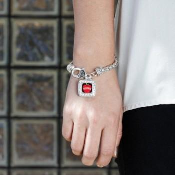 Teacher Classic Silver Crystal Bracelet in Women's Link Bracelets