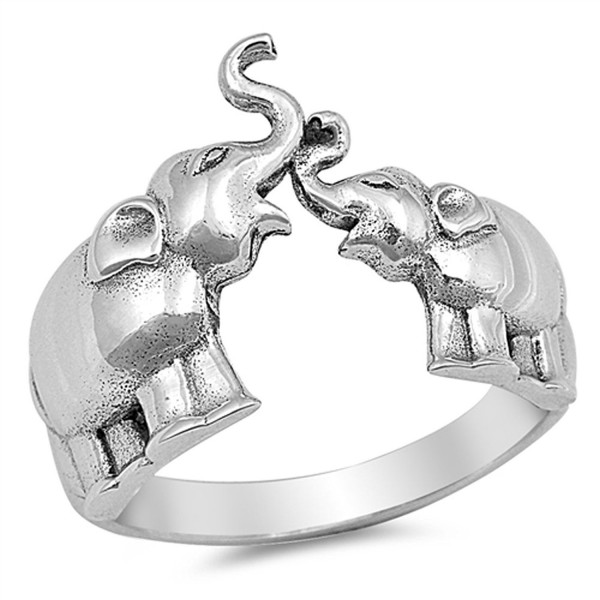 Elephant Animal Ring New .925 Sterling Silver Band Sizes 4-10 - CF12JBXHBNR