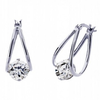 Sterling Silver Cubic Zirconia Invisible Setting Womens Drop Earrings-Other Colors - White - CY11P09E51D