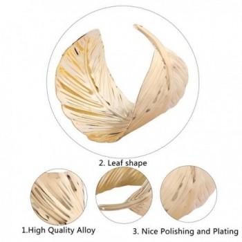 YAZILIND Alloy Leaves Design Bracelet in Women's Cuff Bracelets
