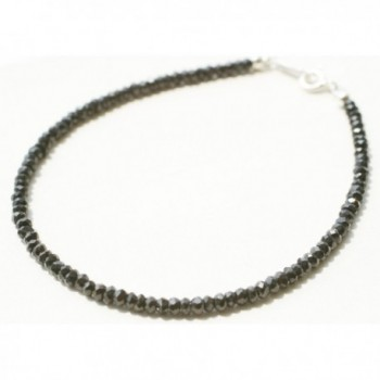 Newstone Faceted Black Spinel Bead Bracelet (17.5cm / 6.8 inch) - CP11DACJ3C7