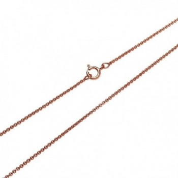 Flashed Sterling Silver Necklace Inches
