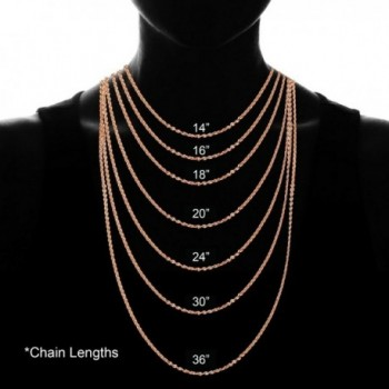 Flashed Sterling Silver Necklace Inches in Women's Chain Necklaces