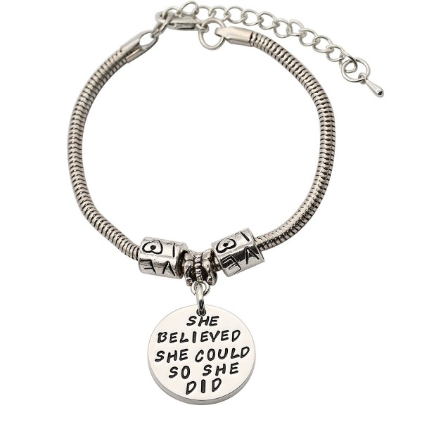 CAROMAY Bangle Bracelets She Believed She Could So She Did Inspiration Jewelry Gift For Christmas Day - CN187DDTU5T