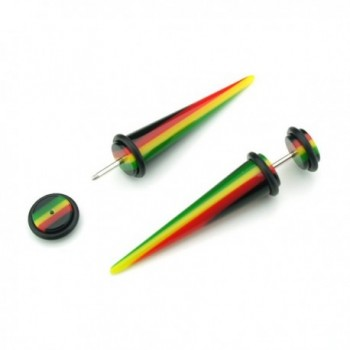 Rasta Design Acrylic Tapers Cheaters
