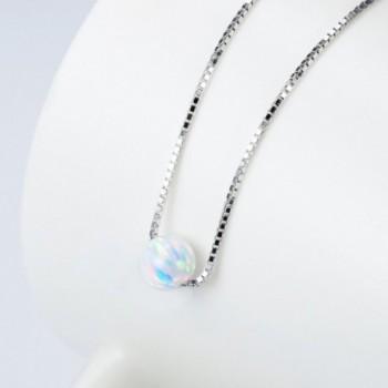 Sterling Silver Created Choker Necklace in Women's Pendants