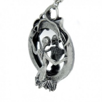 Mirror Lady Death Necklace Gothic Grim Reaper Soul Vamp - C7116GRXR17