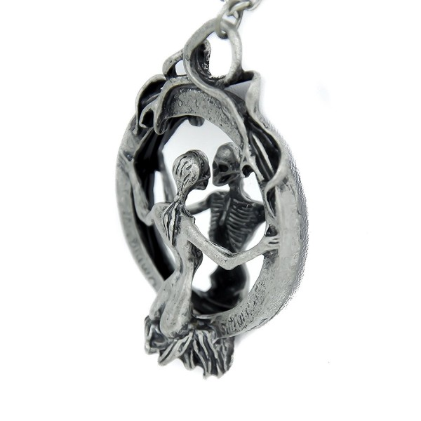 Mirror Lady Death Necklace Gothic Grim Reaper Soul Vamp - C7116GRXR17