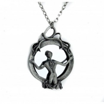 Mirror Death Necklace Gothic Reaper