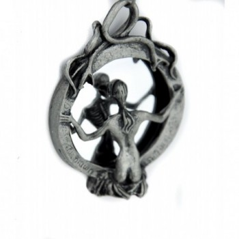 Mirror Death Necklace Gothic Reaper in Women's Pendants