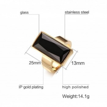 Stainless Plated Rectangle Fashion Cocktail