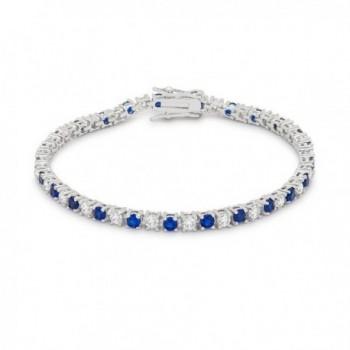 Exclusive Cubic Zirconia Tennis Bracelet Collection By Kate Bisset - Blue - C212JEU9J7N